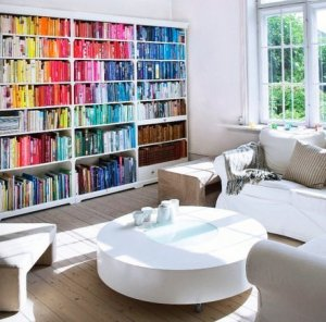 rainbow bookshelf 2