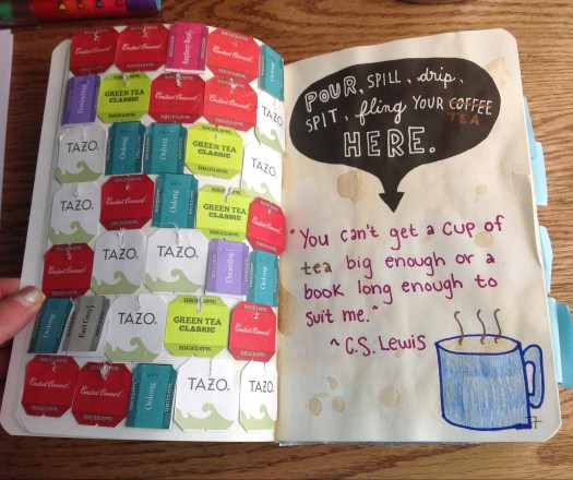 Wreck This Journal Tea Page