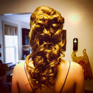 My prom hair- how I wish it still looked like that!