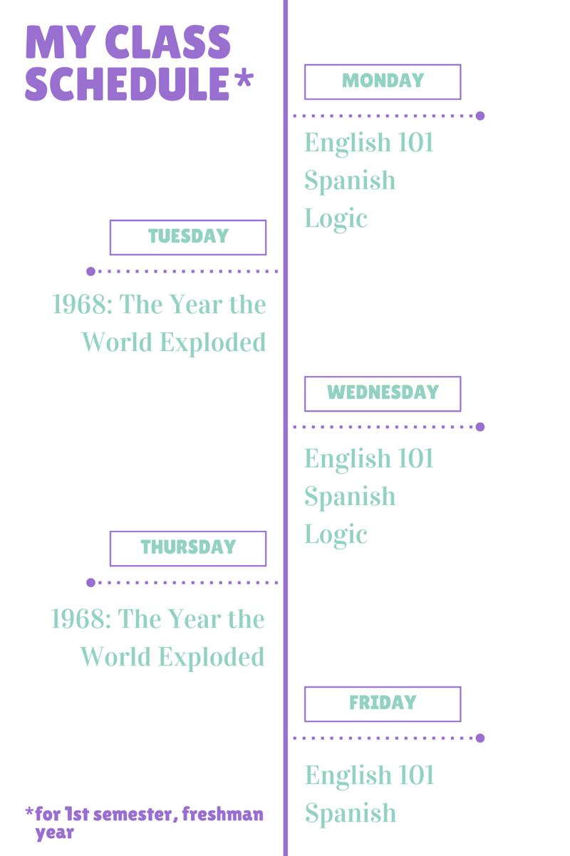 my free college schedule